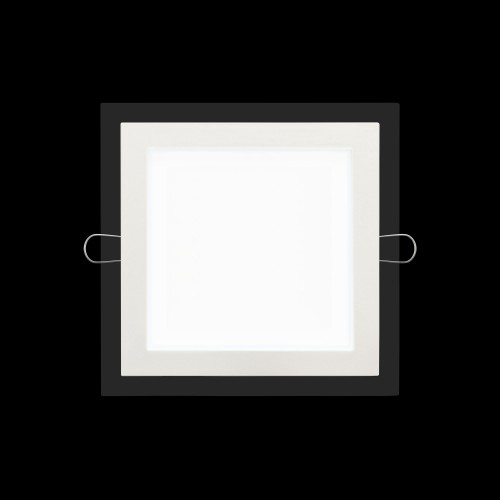 "Slim Modern Square LED Light 6 1/4""W Cool White 12 W Dimmable"